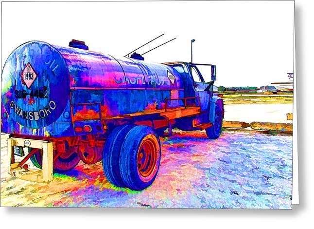 Oil Tanker Truck Greeting Card