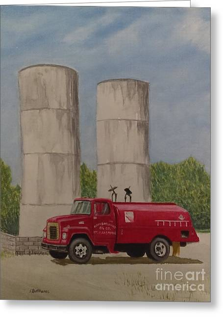 Oil Truck Greeting Card
