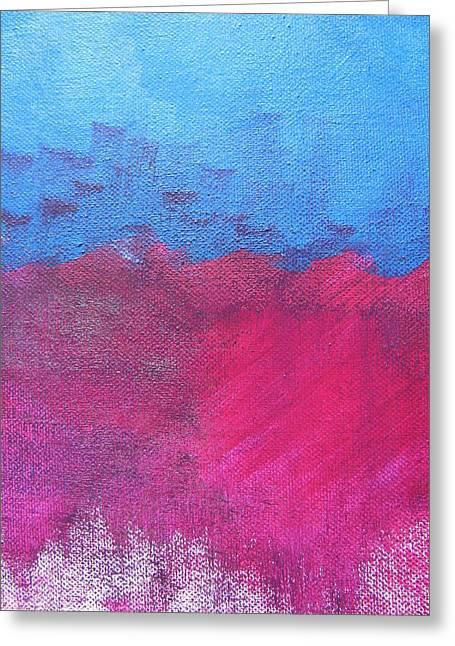 Oil Wave Greeting Card by Lindie Racz