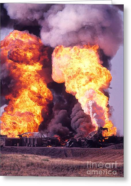 Oil Well Fire Greeting Card