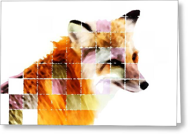 Fox Lost In The Sea Of Science Greeting Card