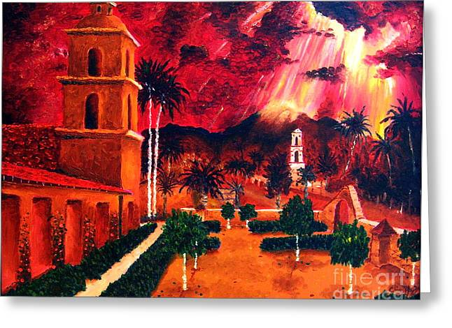 Ojai Red I Greeting Card by Chris Haugen