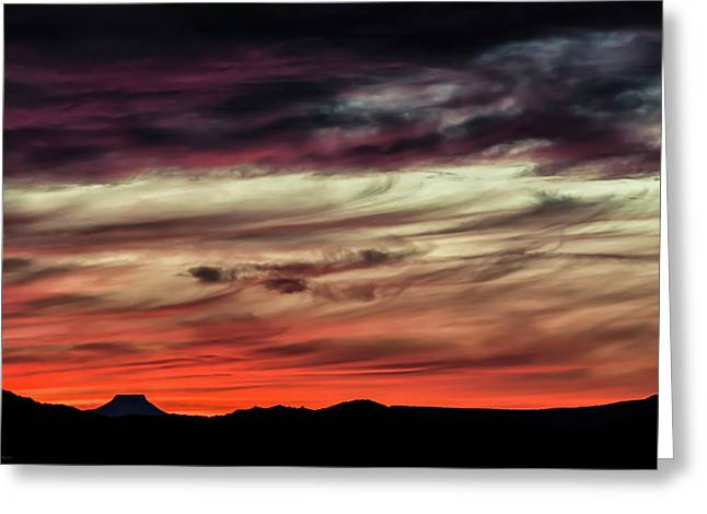 Greeting Card featuring the photograph Ojo Caliente Sunset by Britt Runyon
