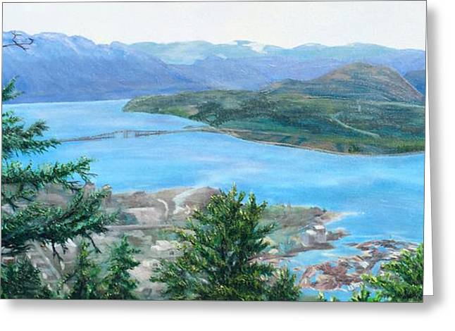 Okanagan Blue Greeting Card