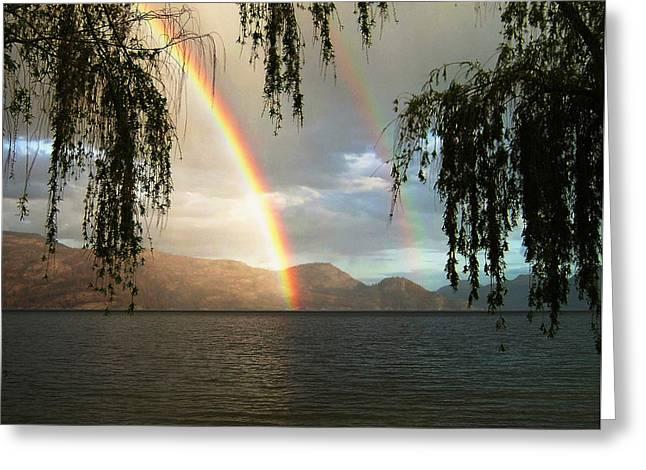 Okanagan Rainbow Greeting Card