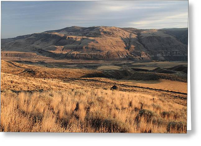 Okanagan Valley Sunset Glow Greeting Card by Pierre Leclerc Photography