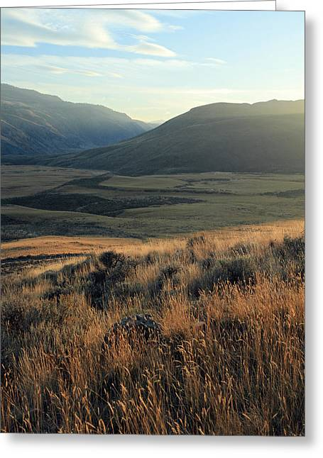 Okanagan Valley Warm Glow Greeting Card by Pierre Leclerc Photography