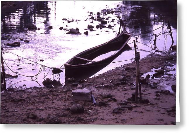 Okinawa Canoe Parking Greeting Card by Curtis J Neeley Jr