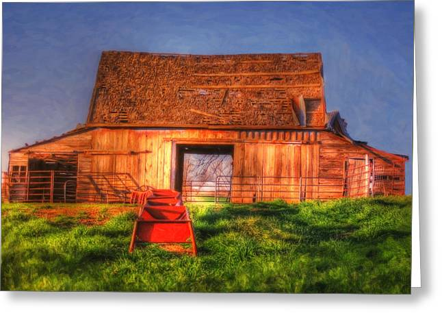 Oklahoma Barn Greeting Card