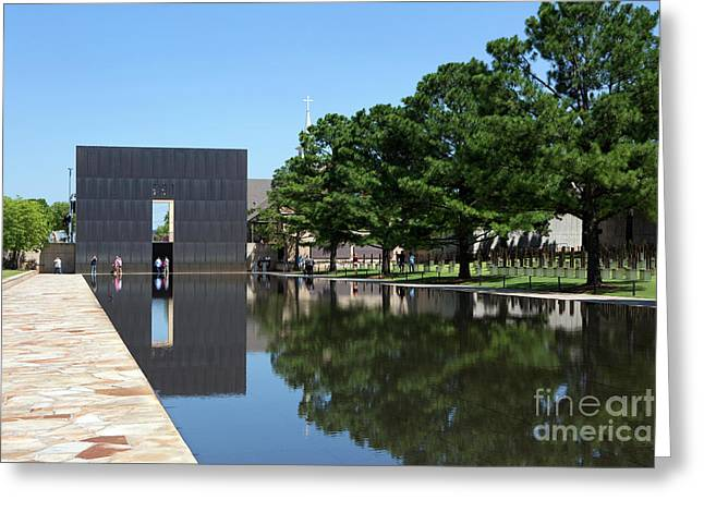 Oklahoma City National Memorial Bombing Greeting Card