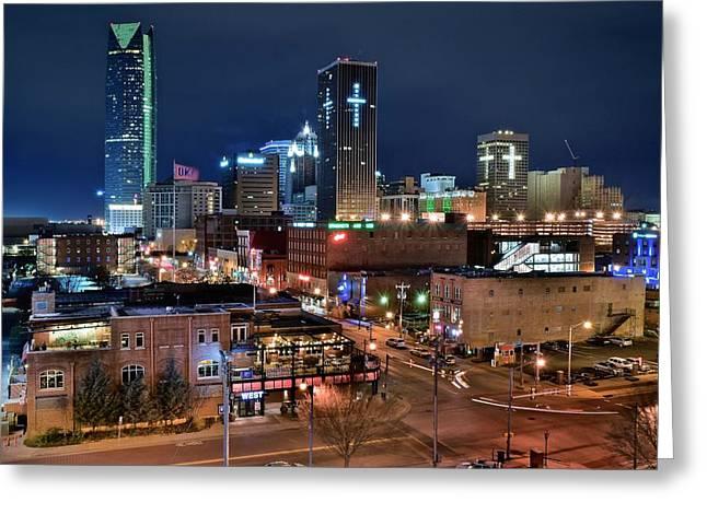 Oklahoma City Night Greeting Card