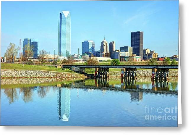 Oklahoma City Skyline Greeting Card by Denis Tangney Jr