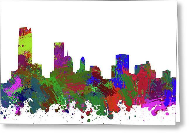 Oklahoma City Skyline Painted Greeting Card