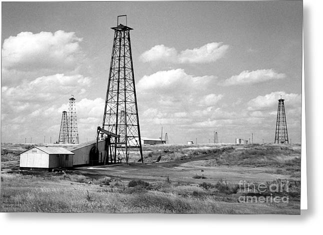 Oklahoma Crude Greeting Card by Larry Keahey