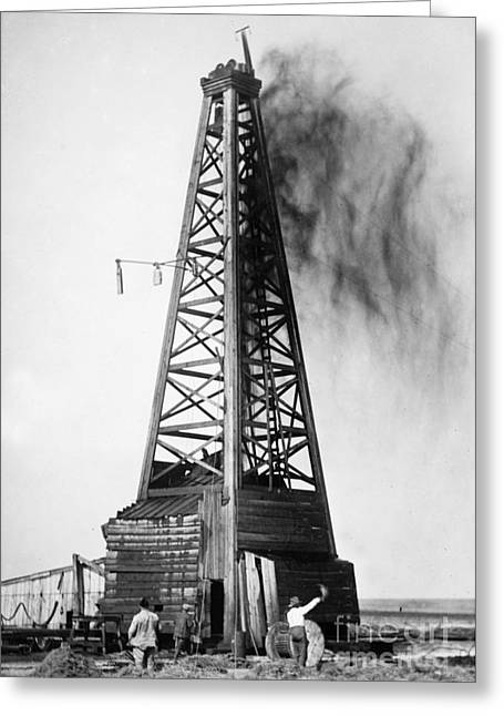 Oklahoma Greeting Cards - OKLAHOMA: OIL WELL, c1922 Greeting Card by Granger