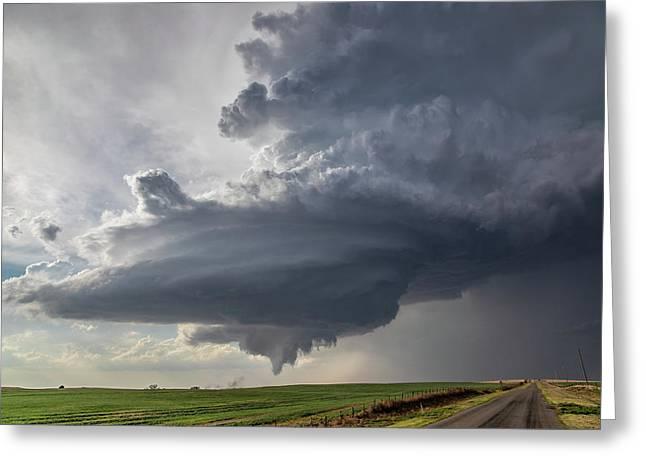 Oklahoma Panhandle Swirl Greeting Card