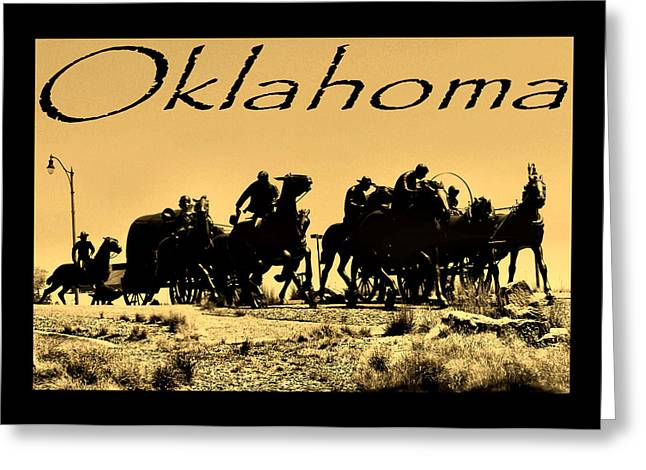 Oklahoma Postcard Greeting Card by Karen M Scovill