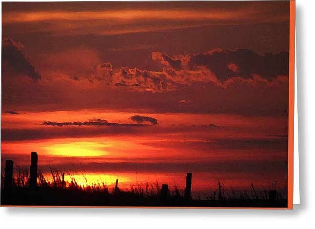 Oklahoma Sky At Daybreak  Greeting Card