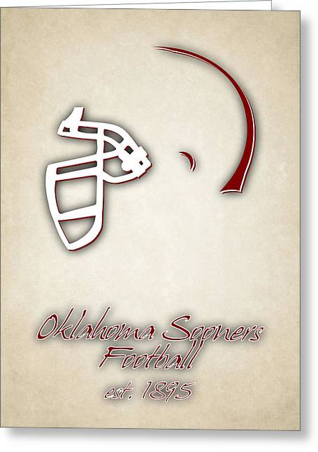 Oklahoma Sooners Helmet 2 Greeting Card by Joe Hamilton