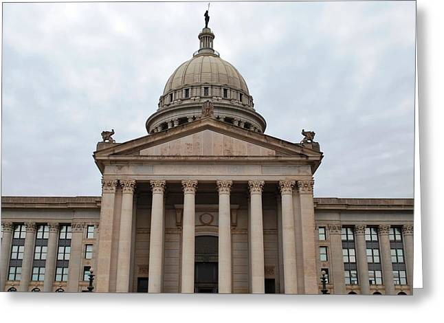 Oklahoma State Capitol - Front View Greeting Card by Matt Harang