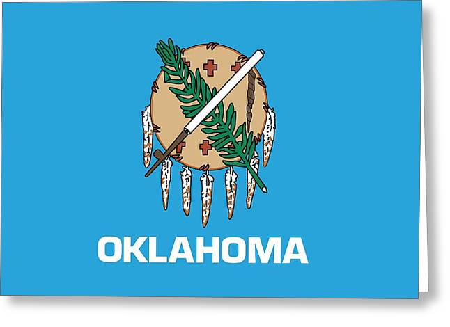 Oklahoma State Flag Greeting Card by American School