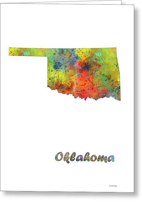 Oklahoma State Map Greeting Card