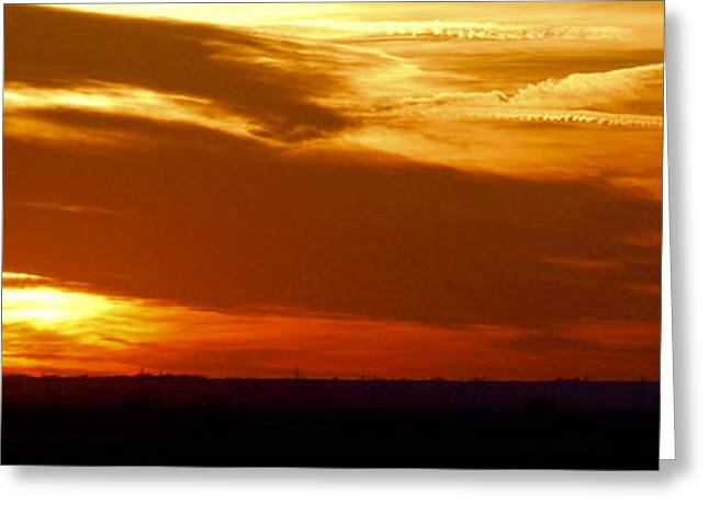 Greeting Card featuring the photograph Oklahoma Sunset by Larry Keahey