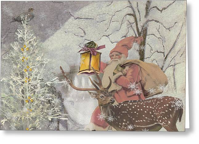 Ol' Saint Nick Greeting Card by Diana Boyd