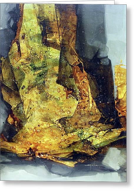 Ol1964ny007 Abstract Deformation 36 X 41 Greeting Card by Alfredo Da Silva
