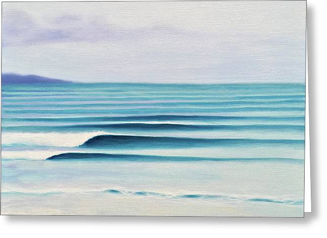 Olas Greeting Card by Kelly Meagher