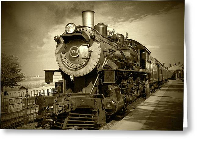 Old 475 - Bw Greeting Card by Lou Ford