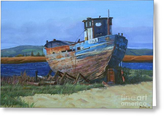 Old Abandoned Boat Greeting Card
