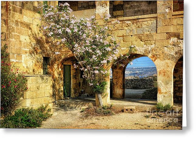 Old Abandoned Hospital In Comino Greeting Card by Stephan Grixti