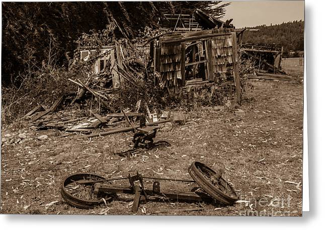 Old Abandoned House Fort Ross Sonoma County Greeting Card