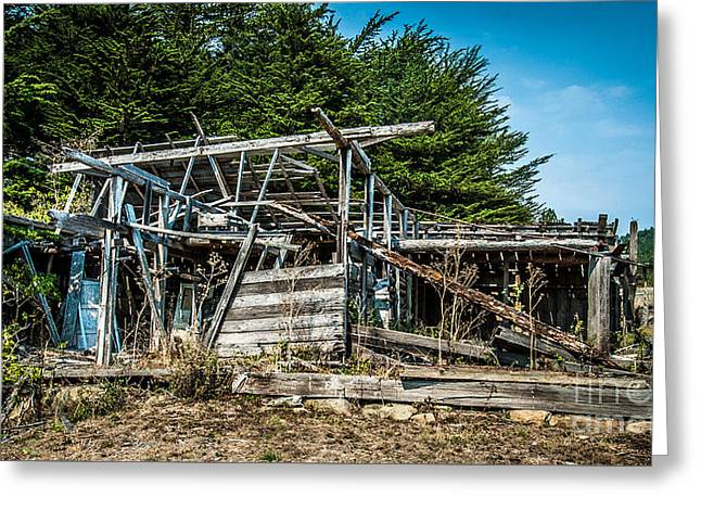 Old Abandoned Structure Sonoma County Greeting Card