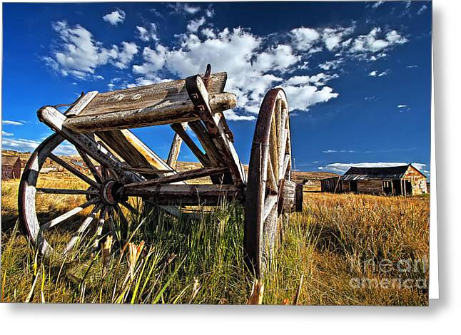 Old Abandoned Wagon, Bodie Ghost Town, California Greeting Card