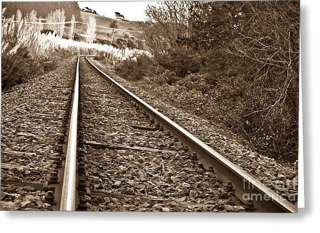 Greeting Card featuring the photograph Old Abundant Railway by Yurix Sardinelly