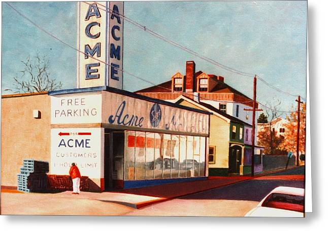 Greeting Card featuring the painting Old Acme Lambertville Nj by Robert Henne