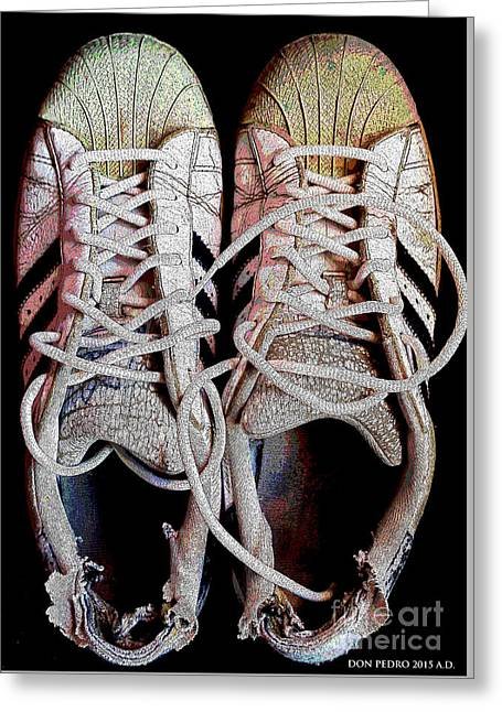 Greeting Card featuring the photograph Old Adidas Supestar II by Don Pedro De Gracia
