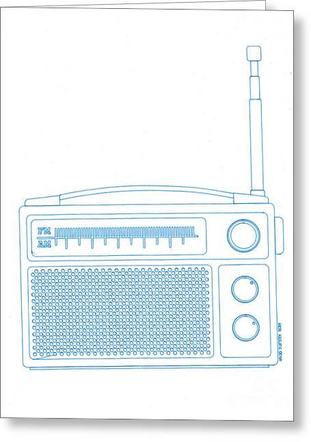 Old Analog Radio Greeting Card