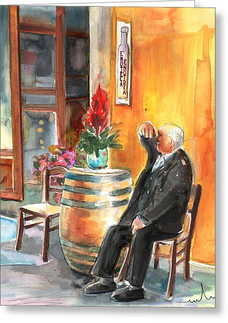 Old And Lonely In Italy 02 Greeting Card by Miki De Goodaboom