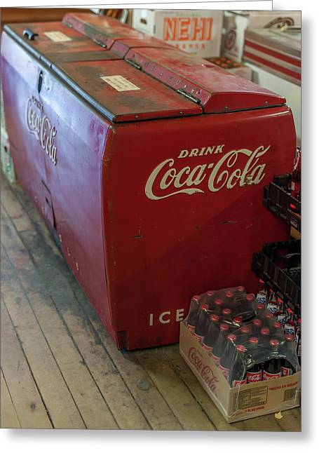 Old And New Coca Cola  Greeting Card