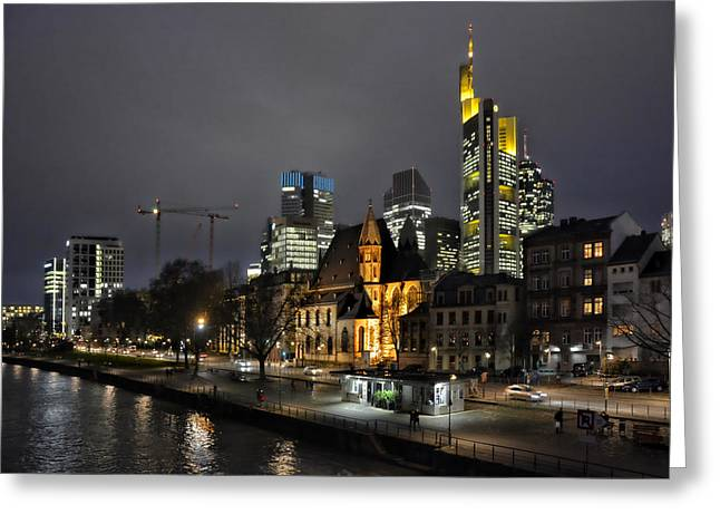 Old And New Frankfurt Greeting Card