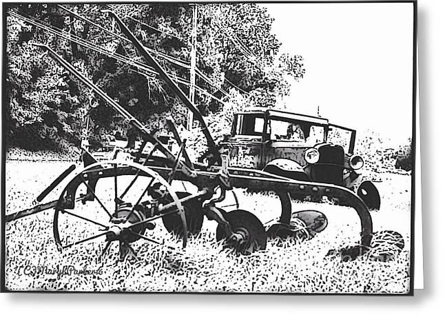 Old And Rusty In Black White Greeting Card