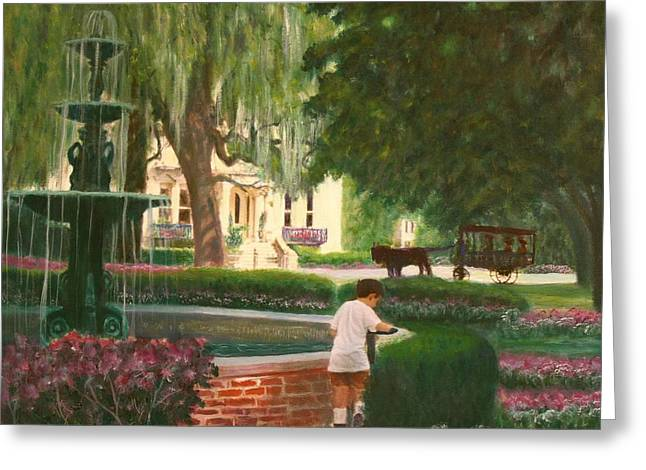 Old And Young Of Savannah Greeting Card by Ben Kiger