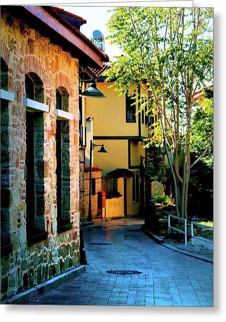 Old Antalya Greeting Card by Inna Nedzelskaia