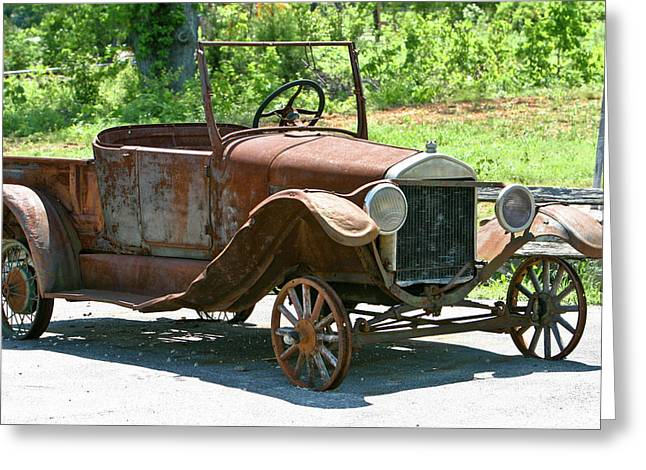 Old Antique Vehicle Greeting Card by Douglas Barnett