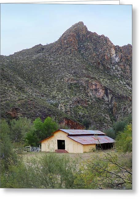 Old Arizona Barn Greeting Card