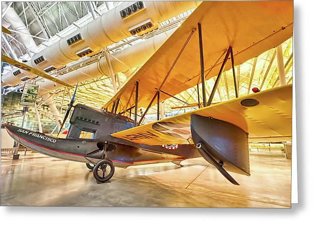 Greeting Card featuring the photograph Old Army Biplane by Lara Ellis