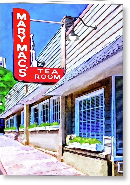 Old Atlanta - Mary Mac's Tea Room Greeting Card by Mark Tisdale